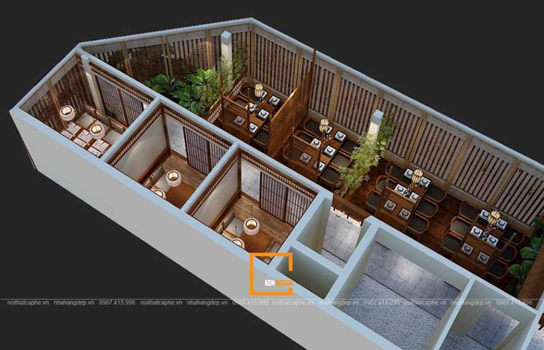 mau thiet ke nha hang an uong phong cach nhat ban tai da nang 2 - Thiết kế nhà hàng ăn uống phong cách Nhật Bản tại Đà Nẵng