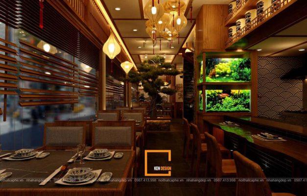 mau thiet ke nha hang an uong phong cach nhat ban tai da nang 3 627x400 - Thiết kế nhà hàng ăn uống phong cách Nhật Bản tại Đà Nẵng