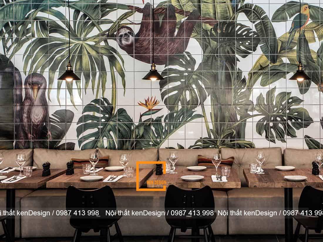 thiet ke noi that nha hang phong cach nhiet doi 2 - Thiết kế nội thất nhà hàng phong cách nhiệt đới