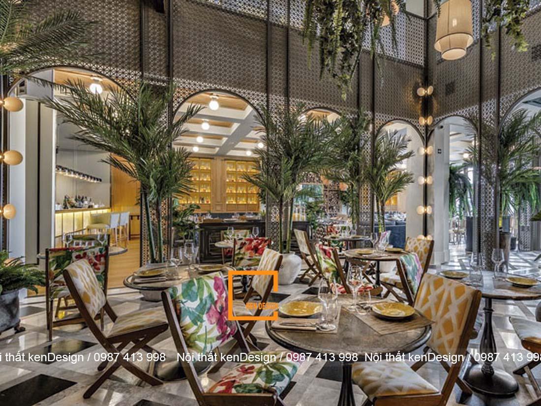 thiet ke noi that nha hang phong cach nhiet doi 4 - Thiết kế nội thất nhà hàng phong cách nhiệt đới