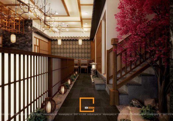mau thiet ke nha hang mang phong cach a dong 1 571x400 - Mẫu thiết kế nhà hàng mang phong cách Á Đông