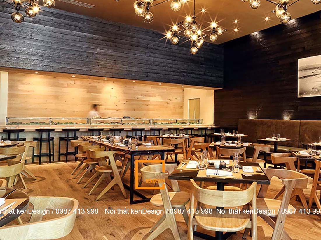 mau thiet ke nha hang sushi noi bat va thu hut 1 - Mẫu thiết kế nhà hàng Sushi nổi bật và thu hút