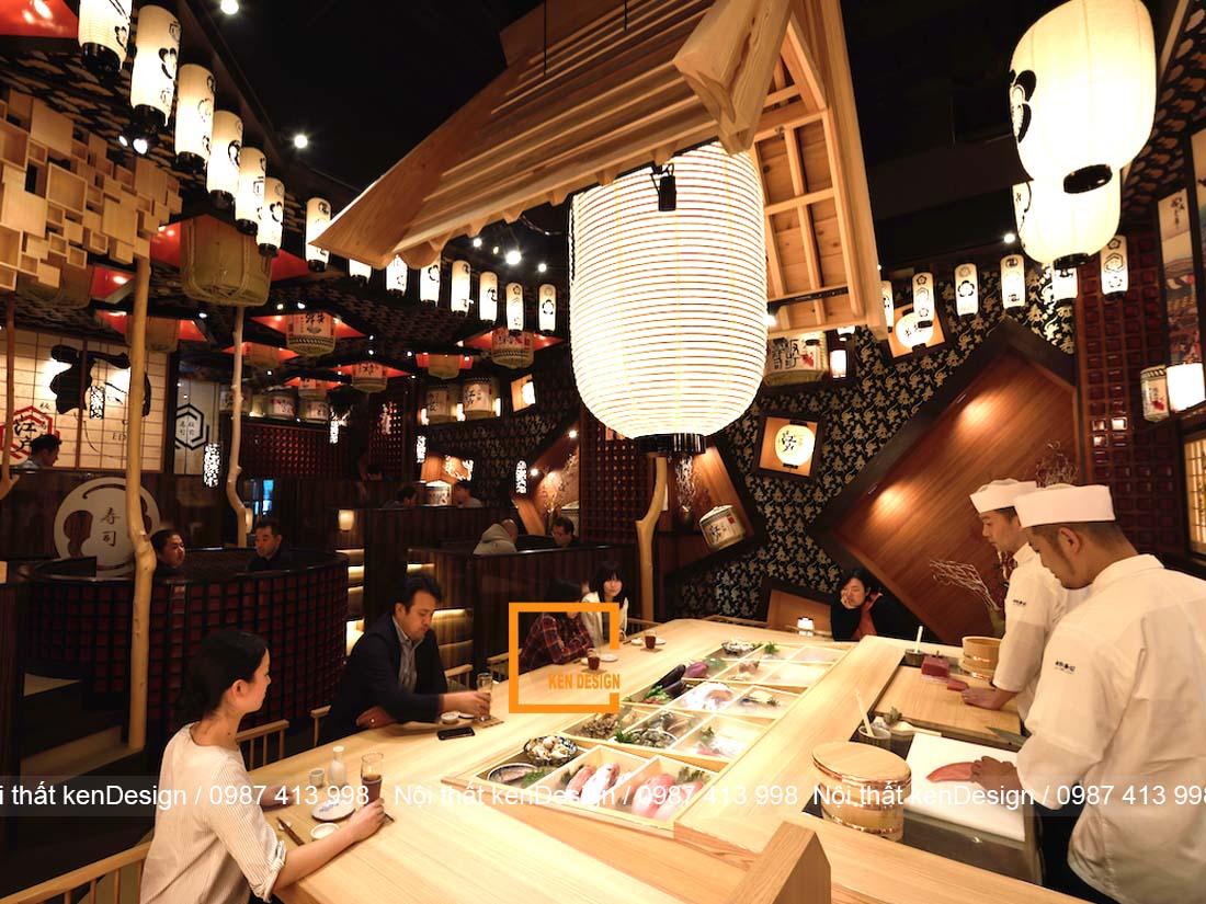 mau thiet ke nha hang sushi noi bat va thu hut 2 - Mẫu thiết kế nhà hàng Sushi nổi bật và thu hút