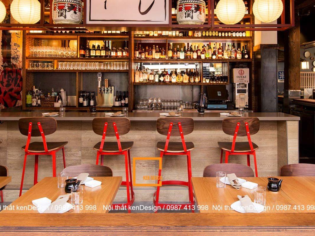 mau thiet ke nha hang sushi noi bat va thu hut 4 1067x800 - Mẫu thiết kế nhà hàng Sushi nổi bật và thu hút