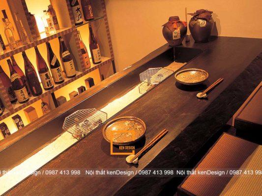 thiet ke nha hang kieu nhat suc hut tu su than thien va gon gang 2 533x400 - Thiết kế nhà hàng kiểu Nhật - Sức hút từ sự thân thiện và gọn gàng