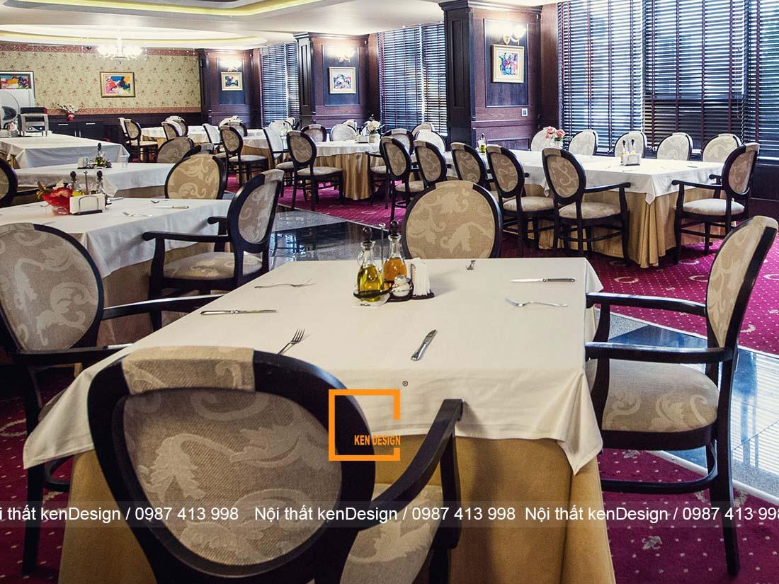 thiet ke nha hang tai khach san phong cach co dien sang chanh 1 - Thiết kế nhà hàng tại khách sạn phong cách cổ điển, sang chảnh