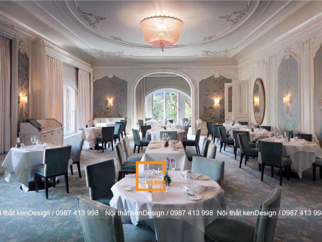 thiet ke nha hang tai khach san phong cach co dien sang chanh 3 1067x800 - Thiết kế nhà hàng tại khách sạn phong cách cổ điển, sang chảnh