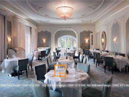 thiet ke nha hang tai khach san phong cach co dien sang chanh 3 533x400 - Thiết kế nhà hàng tại khách sạn phong cách cổ điển, sang chảnh