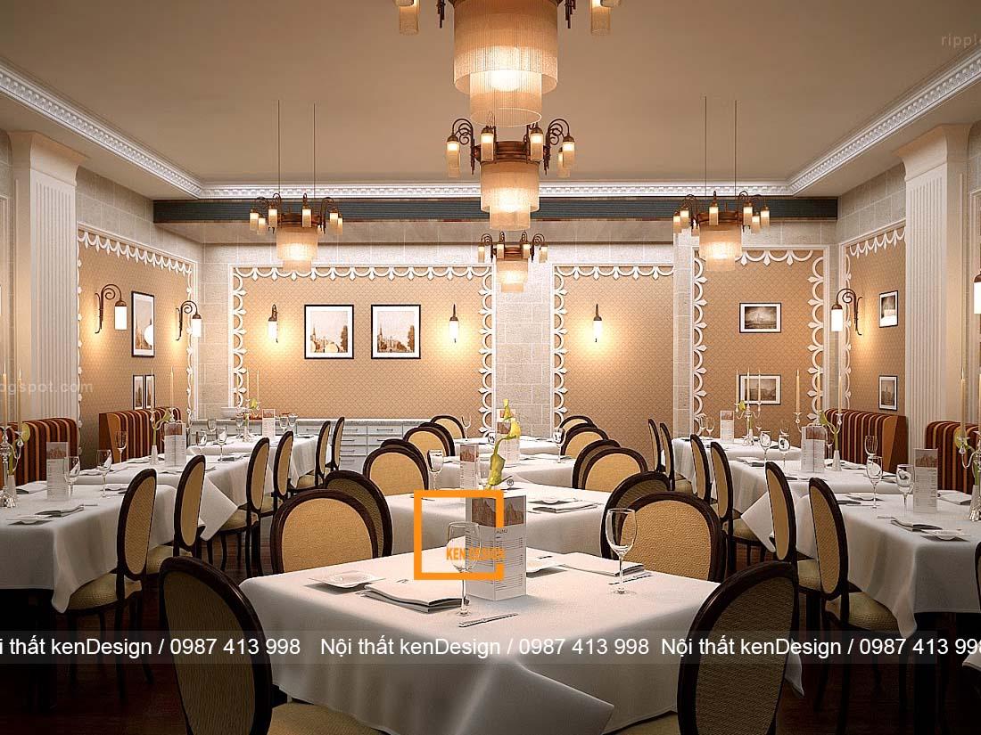thiet ke nha hang tai khach san phong cach co dien sang chanh 4 - Thiết kế nhà hàng tại khách sạn phong cách cổ điển, sang chảnh