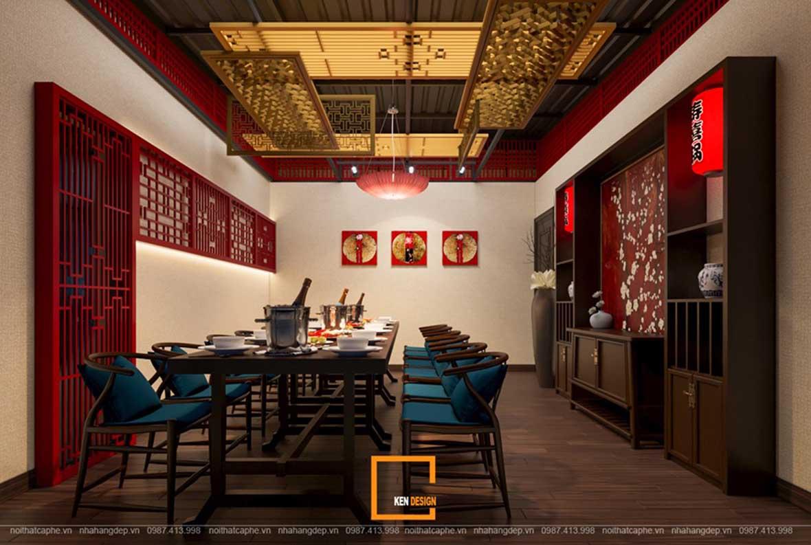 doc la voi noi that a au dan xen trong thiet ke nha hang sky view 10 - Sky View tại Quảng Ngãi - Độc lạ với nội thất Á- Âu đan xen trong thiết kế nhà hàng