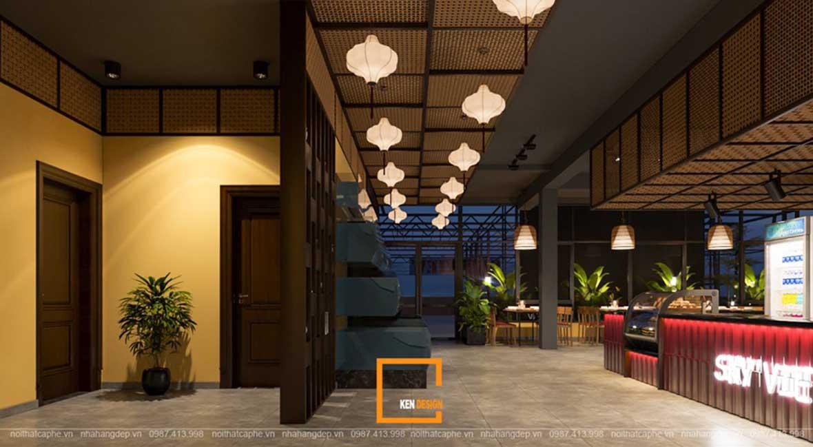 doc la voi noi that a au dan xen trong thiet ke nha hang sky view 12 - Sky View tại Quảng Ngãi - Độc lạ với nội thất Á- Âu đan xen trong thiết kế nhà hàng