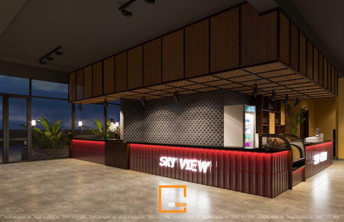 doc la voi noi that a au dan xen trong thiet ke nha hang sky view 13 - Sky View tại Quảng Ngãi - Độc lạ với nội thất Á- Âu đan xen trong thiết kế nhà hàng