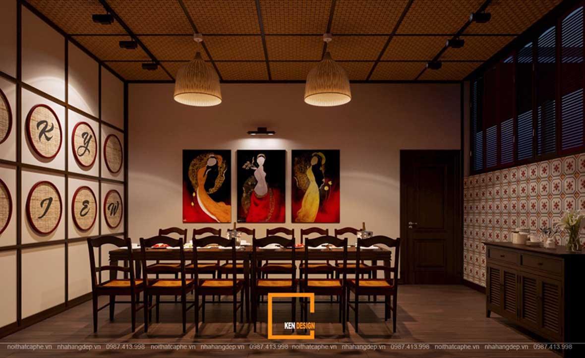doc la voi noi that a au dan xen trong thiet ke nha hang sky view 4 - Sky View tại Quảng Ngãi - Độc lạ với nội thất Á- Âu đan xen trong thiết kế nhà hàng
