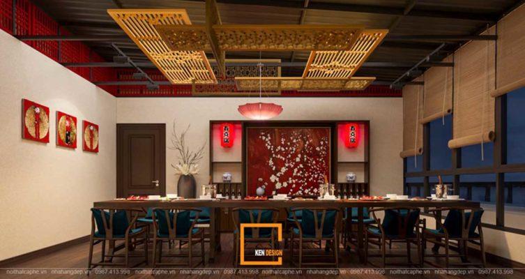 doc la voi noi that a au dan xen trong thiet ke nha hang sky view 8 753x400 - Sky View tại Quảng Ngãi - Độc lạ với nội thất Á- Âu đan xen trong thiết kế nhà hàng