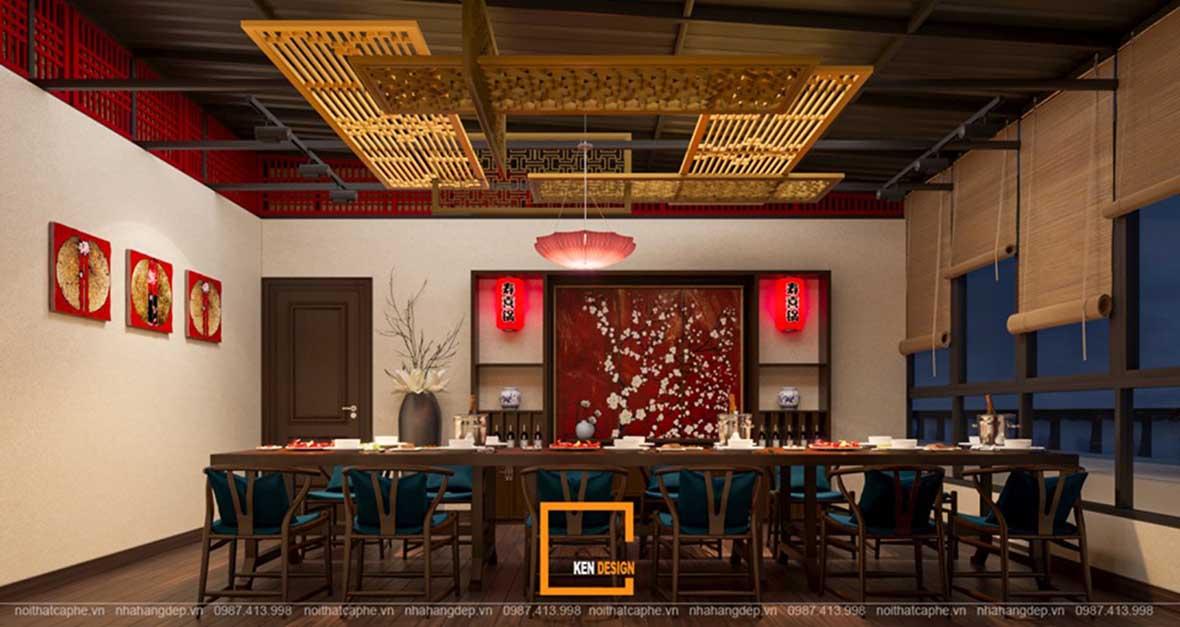 doc la voi noi that a au dan xen trong thiet ke nha hang sky view 8 - Sky View tại Quảng Ngãi - Độc lạ với nội thất Á- Âu đan xen trong thiết kế nhà hàng