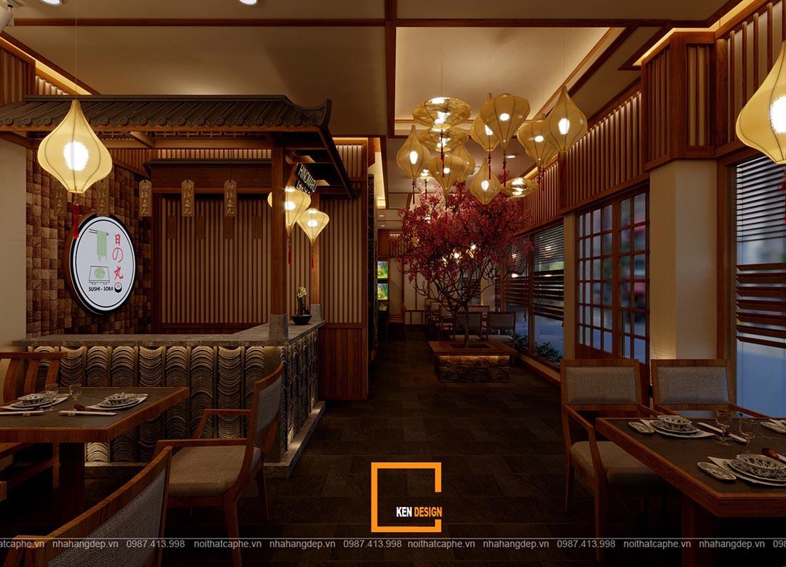 don gia thiet ke nha hang nhat ban hinomaru sushi 2 - Đơn giá thiết kế nhà hàng Nhật Bản Hinomaru Sushi tại Đà Nẵng