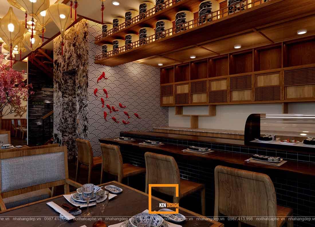 don gia thiet ke nha hang nhat ban hinomaru sushi 3 - Đơn giá thiết kế nhà hàng Nhật Bản Hinomaru Sushi tại Đà Nẵng