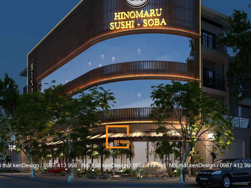 don gia thiet ke nha hang nhat ban hinomaru sushi 4 1067x800 - Đơn giá thiết kế nhà hàng Nhật Bản Hinomaru Sushi tại Đà Nẵng