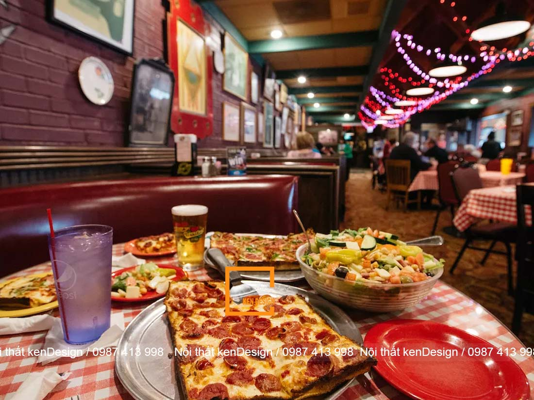 goi y su dung mau sac trong thiet ke nha hang pizza 4 - Gợi ý sử dụng màu sắc trong thiết kế nhà hàng pizza