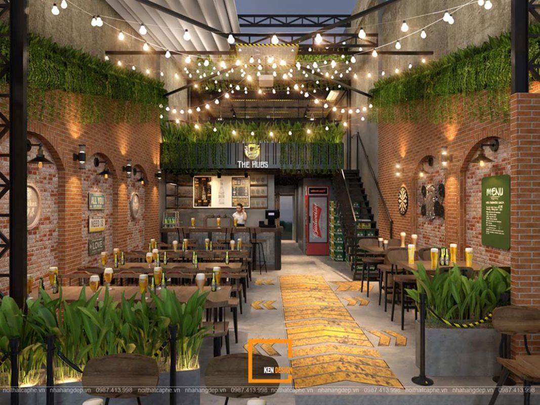 the hugs khong gian nha hang bia san vuon doc dao tai ho chi minh 5 1067x800 - THE HUBS - Không gian nhà hàng bia sân vườn độc đáo tại Hồ Chí Minh