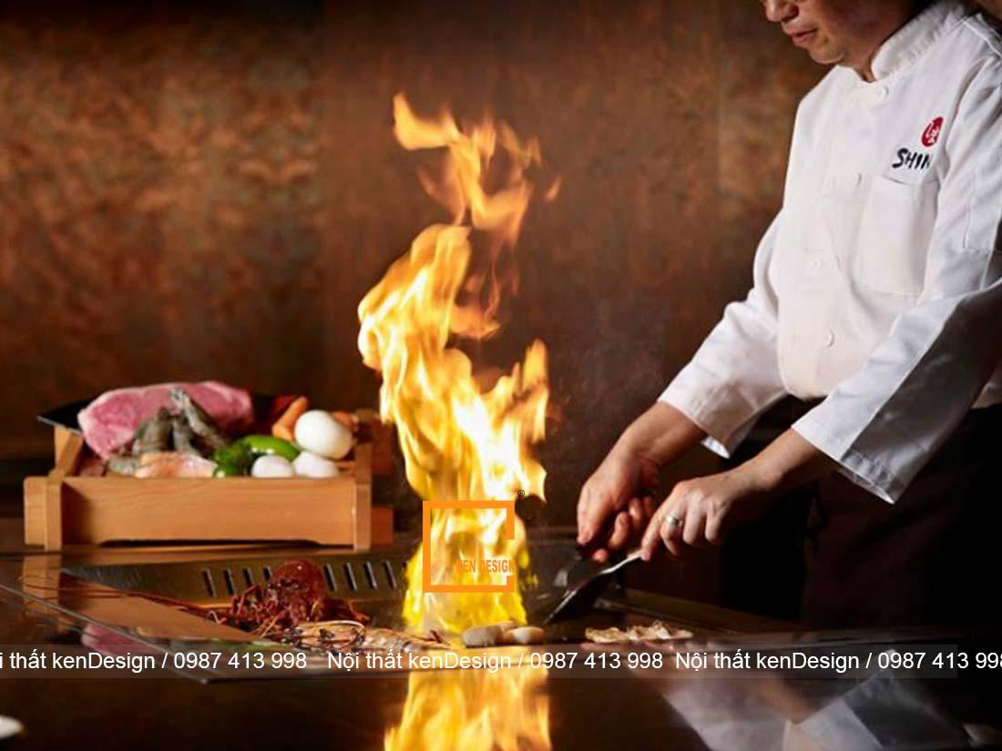 tim hieu ve teppanyaki trong thiet ke nha hang nhat ban 2 - Tìm hiểu về Teppanyaki trong thiết kế nhà hàng Nhật Bản