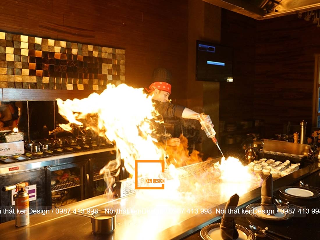 tim hieu ve teppanyaki trong thiet ke nha hang nhat ban 4 - Tìm hiểu về Teppanyaki trong thiết kế nhà hàng Nhật Bản