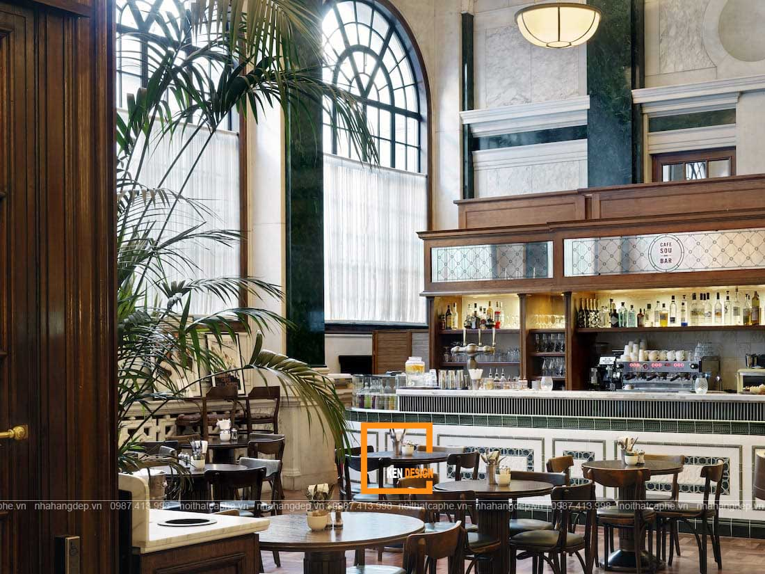 diem dac trung trong thiet ke nha hang phong cach co dien 1 - Điểm đặc trưng trong thiết kế nhà hàng phong cách cổ điển