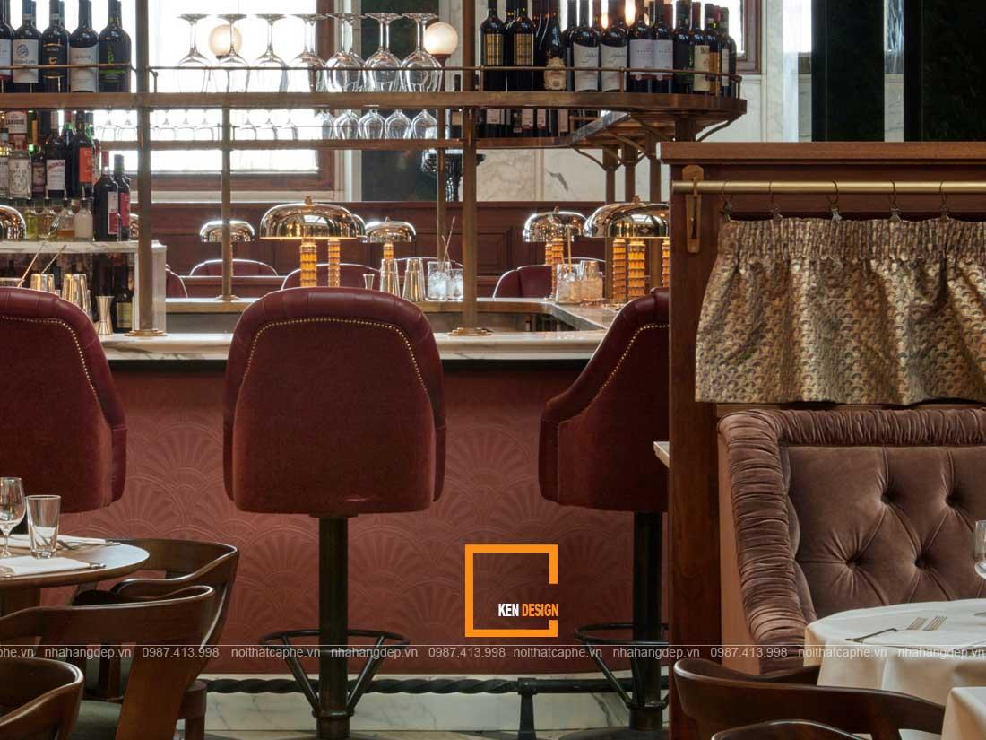 diem dac trung trong thiet ke nha hang phong cach co dien 4 - Điểm đặc trưng trong thiết kế nhà hàng phong cách cổ điển