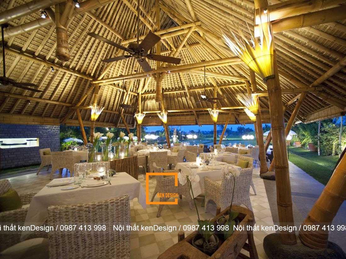 goi y phong cach thi cong nha hang bang tre phu hop nhat 3 - Gợi ý phong cách thi công nhà hàng bằng tre phù hợp nhất