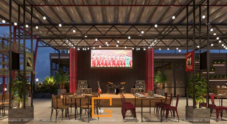 mau thiet ke nha hang ngoai troi dang tham khao 4 733x400 - Mẫu thiết kế nhà hàng ngoài trời đáng tham khảo