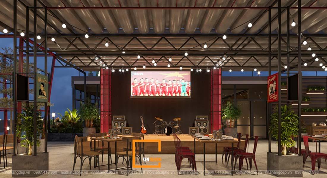 mau thiet ke nha hang ngoai troi dang tham khao 4 - Mẫu thiết kế nhà hàng ngoài trời đáng tham khảo