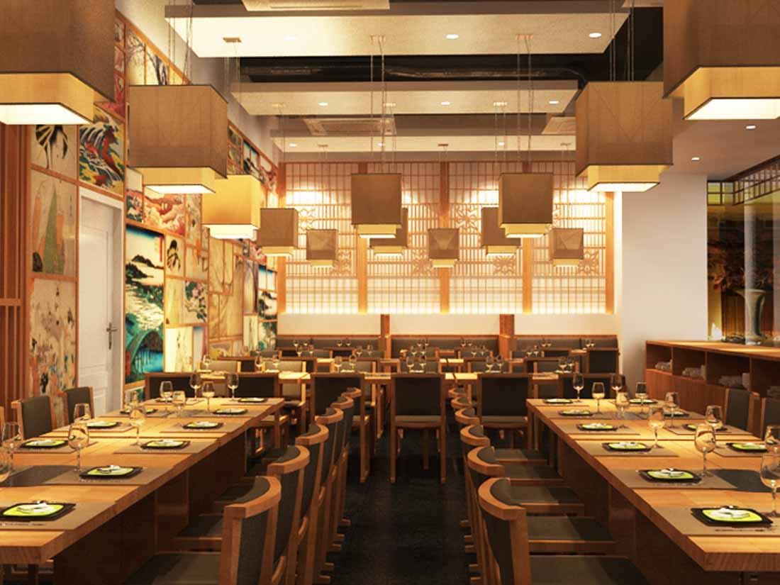 thiet ke nha hang kieu nhat su hoa quyen cua xua va nay 1 - Thiết kế nhà hàng kiểu Nhật - Sự hòa quyện của xưa và nay