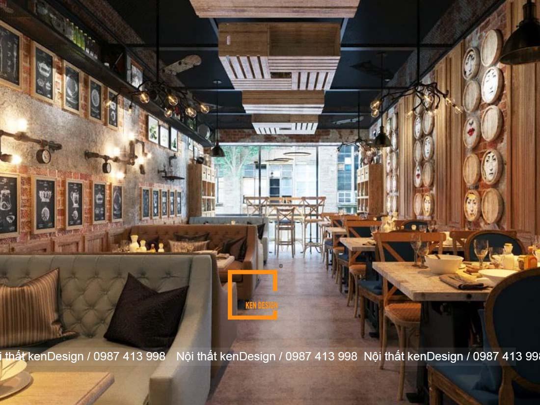 thiet ke thi cong nha hang tron goi phong cach vintage 1 - Thiết kế thi công nhà hàng trọn gói phong cách vintage
