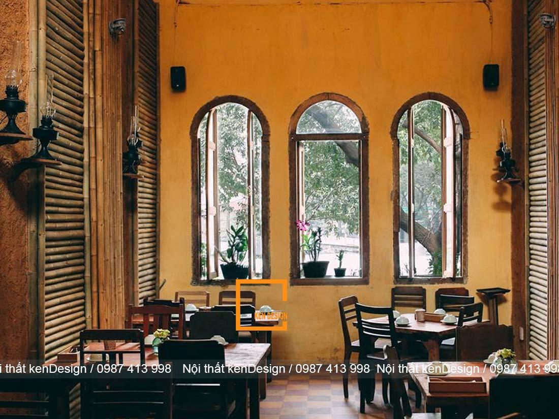 thiet ke thi cong nha hang tron goi phong cach vintage 4 - Thiết kế thi công nhà hàng trọn gói phong cách vintage