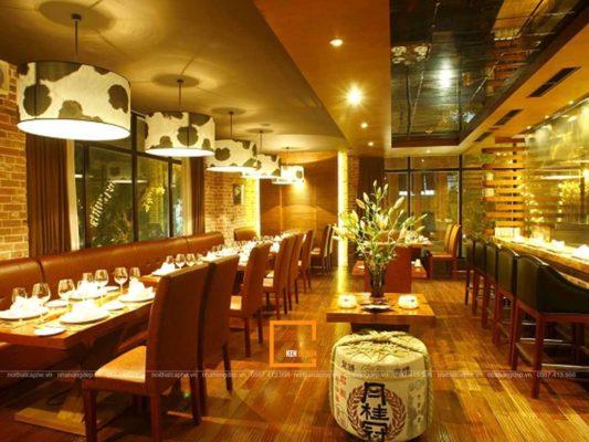 top mau thiet ke nha hang hien dai tao xu huong 1 533x400 - Top mẫu thiết kế nhà hàng hiện đại tạo xu hướng