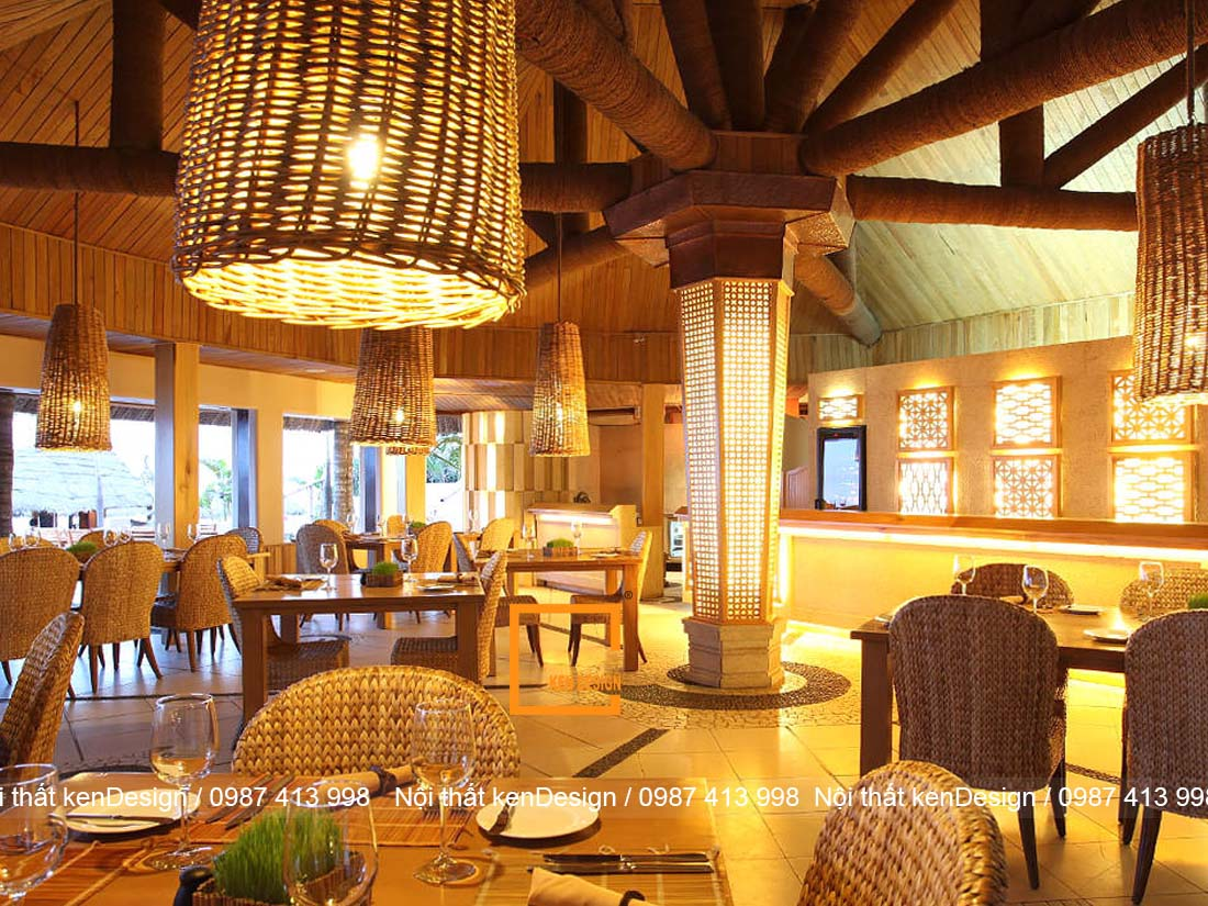 y tuong thiet ke nha hang truyen thong viet moc mac thanh binh 2 - Ý tưởng thiết kế nhà hàng truyền thống Việt mộc mạc, thanh bình