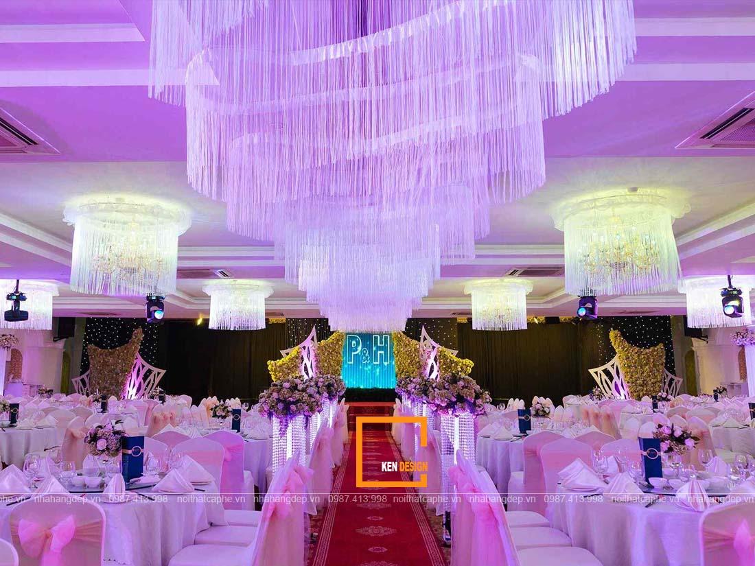 cac phong cach thiet ke nha hang tiec cuoi hot nhat hien nay 4 - Các phong cách thiết kế nhà hàng tiệc cưới hot nhất hiện nay