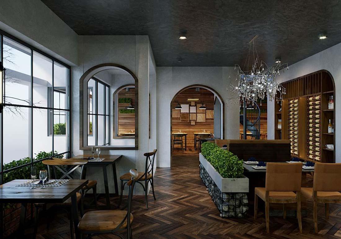Trang trí nhà hàng phong cách hiện đại