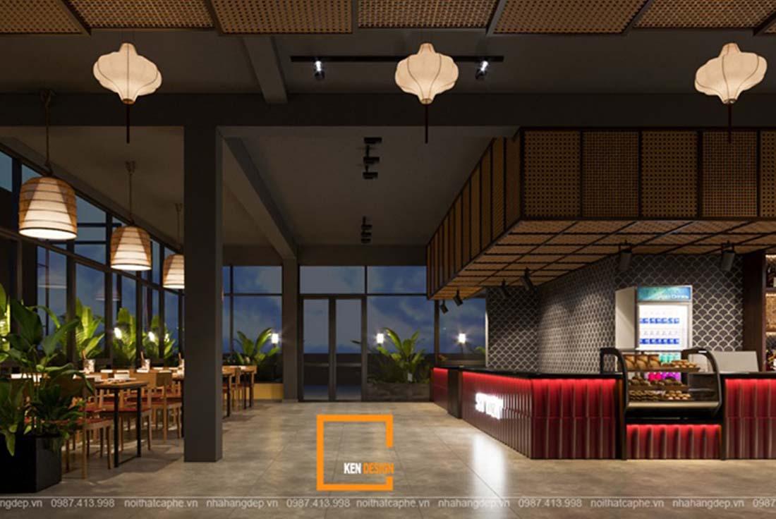 Thiết kế kiến trúc nhà hàng hiện đại