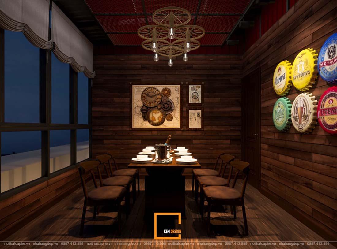 Thiết kế không gian nhà hàng hiện tại
