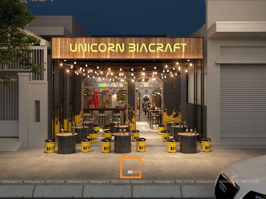 moi me va pha cach voi thiet ke quan bia unicorn biacrafe tai dong nai 7 - Mới mẻ và phá cách với thiết kế quán bia UNICORN BIACRAFT tại Đồng Nai