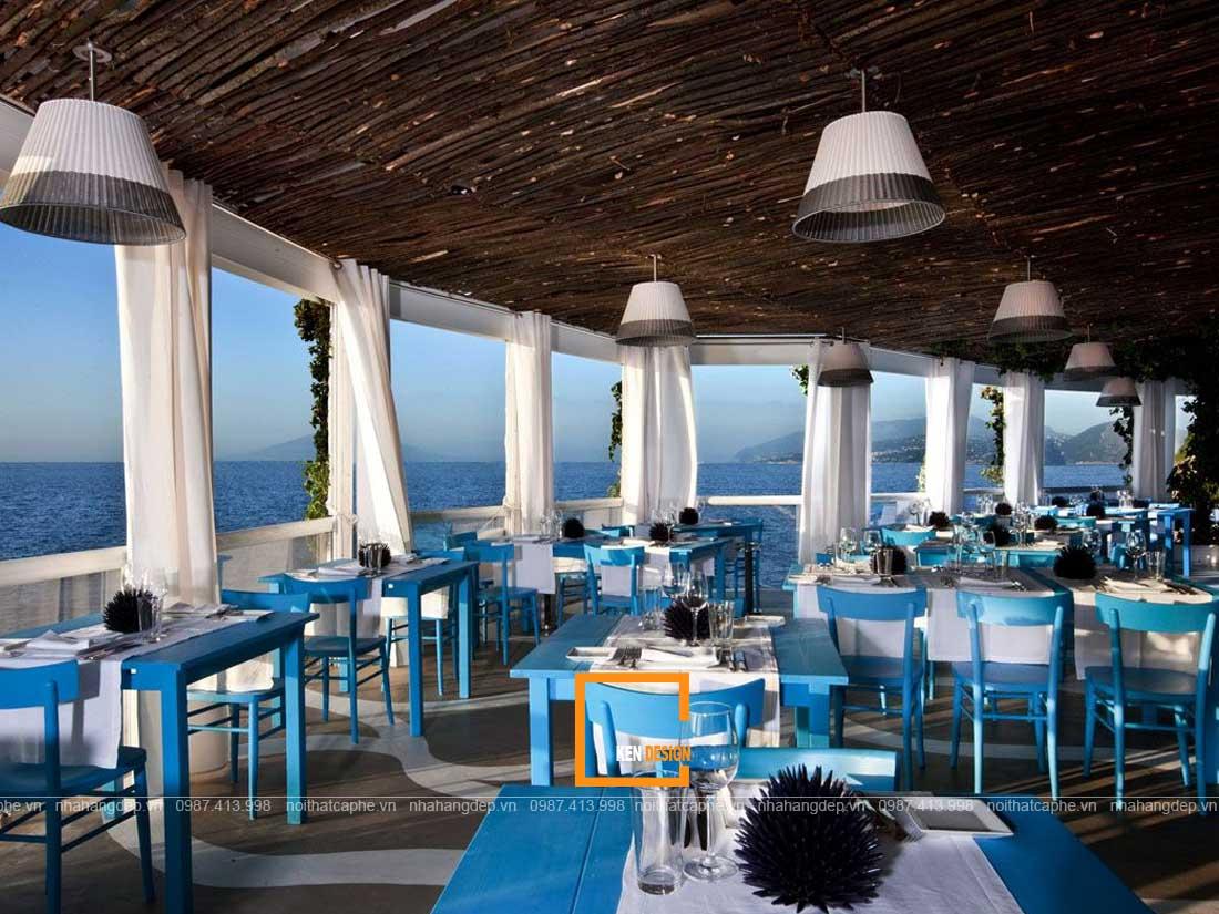 nha hang hai san 1 - Tuyệt chiêu thiết kế nhà hàng hải sản lạ mắt
