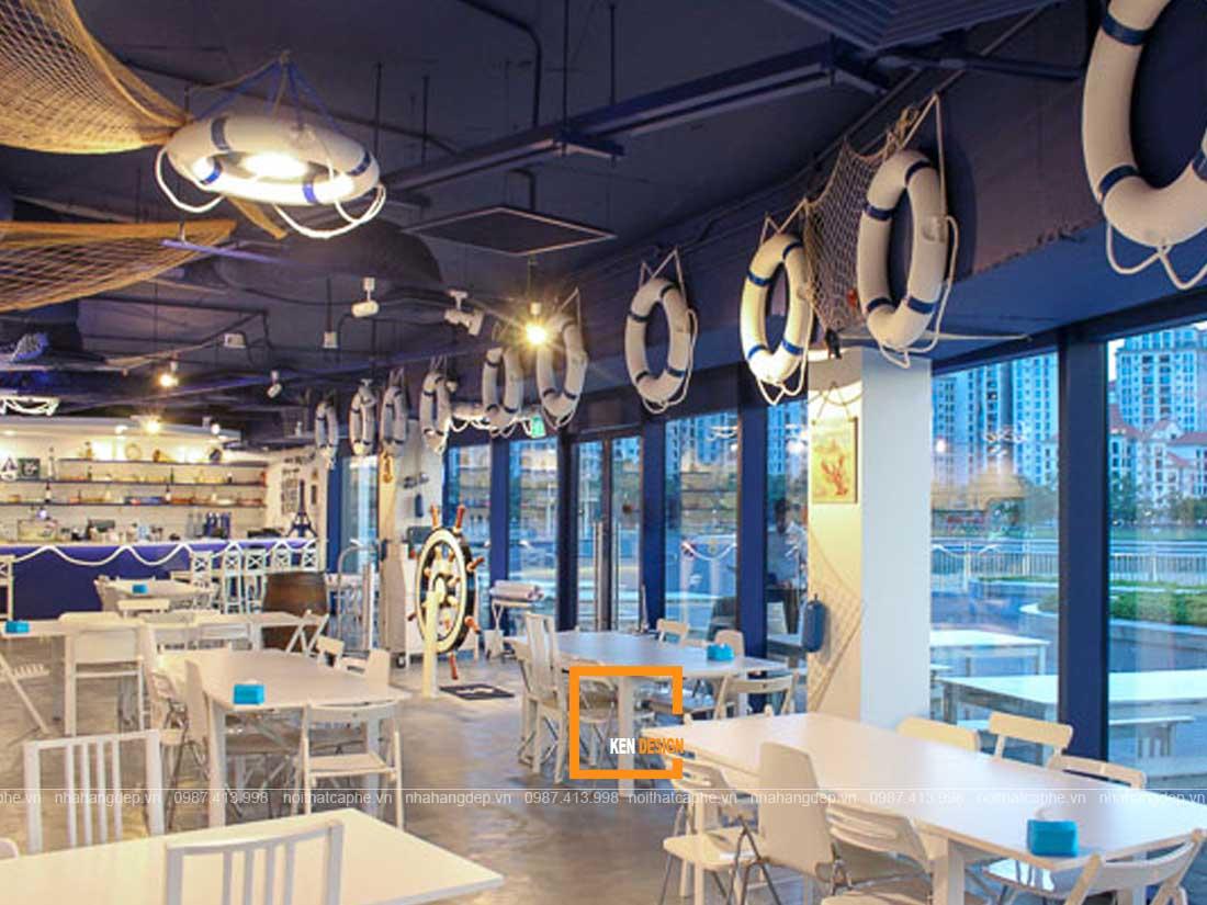 nha hang hai san 3 - Tuyệt chiêu thiết kế nhà hàng hải sản lạ mắt