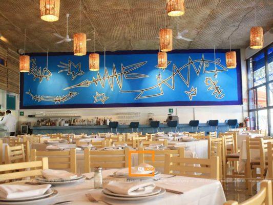 nha hang hai san 4 533x400 - Tuyệt chiêu thiết kế nhà hàng hải sản lạ mắt