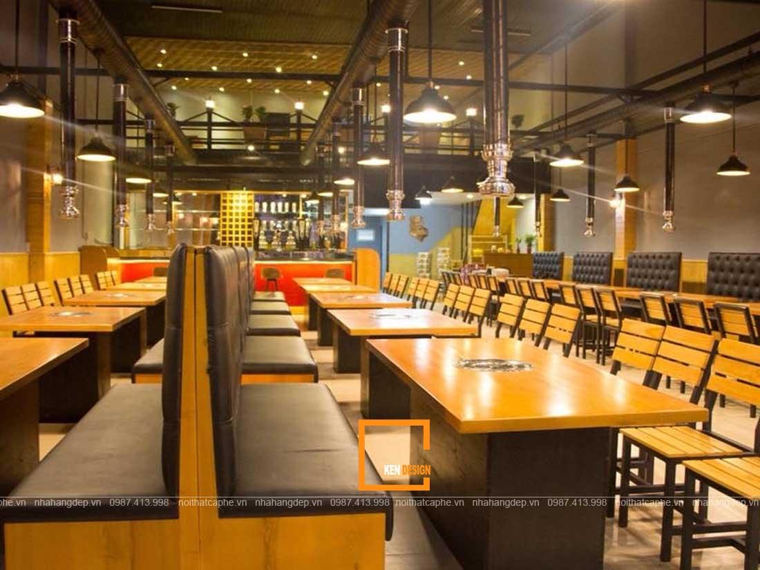 thiet ke nha hang lau nuong 3 - Những phong cách thiết kế nhà hàng lẩu nướng ấn tượng
