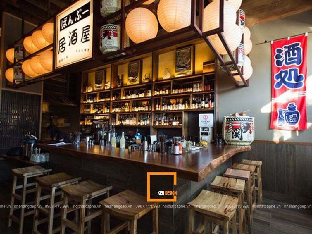 thiet ke nha hang nhat ban dep nghe thuat sap dat trong khong gian 3 1067x800 - Thiết kế nhà hàng Nhật Bản đẹp - Nghệ thuật sắp đặt trong không gian