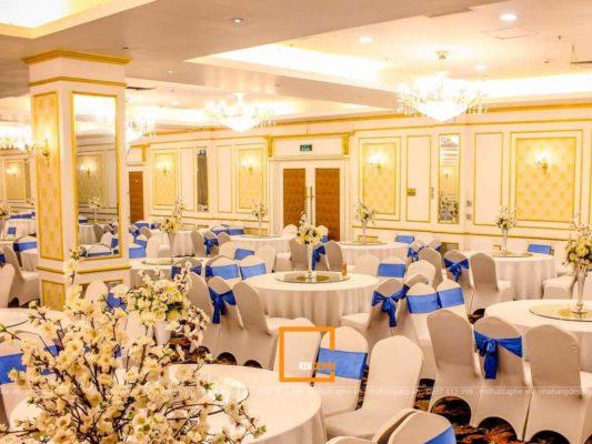 thiet ke nha hang tiec cuoi 1 533x400 - Làm sao để thiết kế nhà hàng tiệc cưới kiểu Pháp đúng điệu?