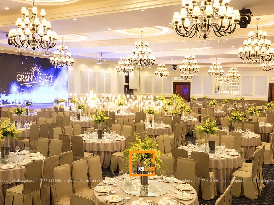 thiet ke nha hang tiec cuoi 3 - Làm sao để thiết kế nhà hàng tiệc cưới kiểu Pháp đúng điệu?