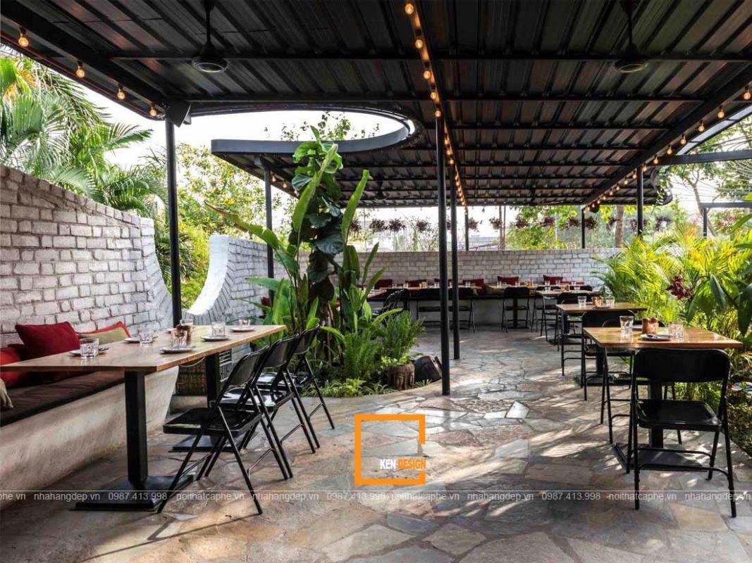 Thiet ke nha hang san vuon 4 1067x800 - Những mẹo hữu ích khi thiết kế nhà hàng sân vườn