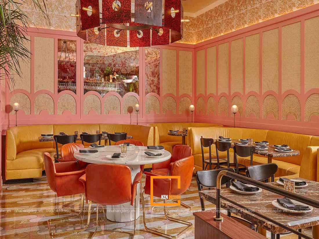 Nội thất thiết kế nhà hàng phong cách Retro mang màu sắc độc đáo